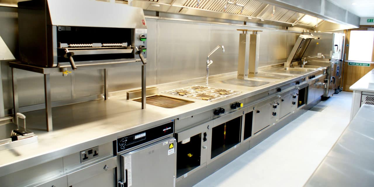 Well maintained commercial kitchen